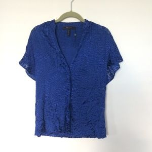BCBG Flutter Sleeve Button Down (NWOT)